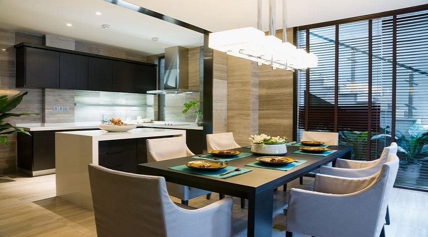 Fengshui-Essplatz-Farbgestalltung-Struktur-Klarheit-Ordnung-Wohnung